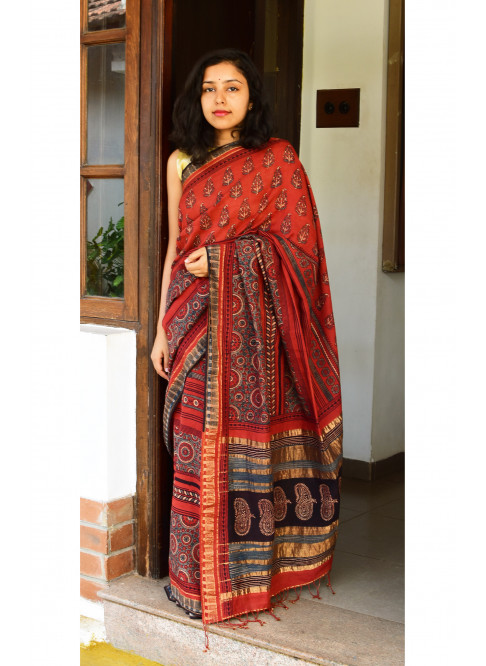 Collection:Chaap-Our Printed Sarees:AJ/JK/SA/7C-1