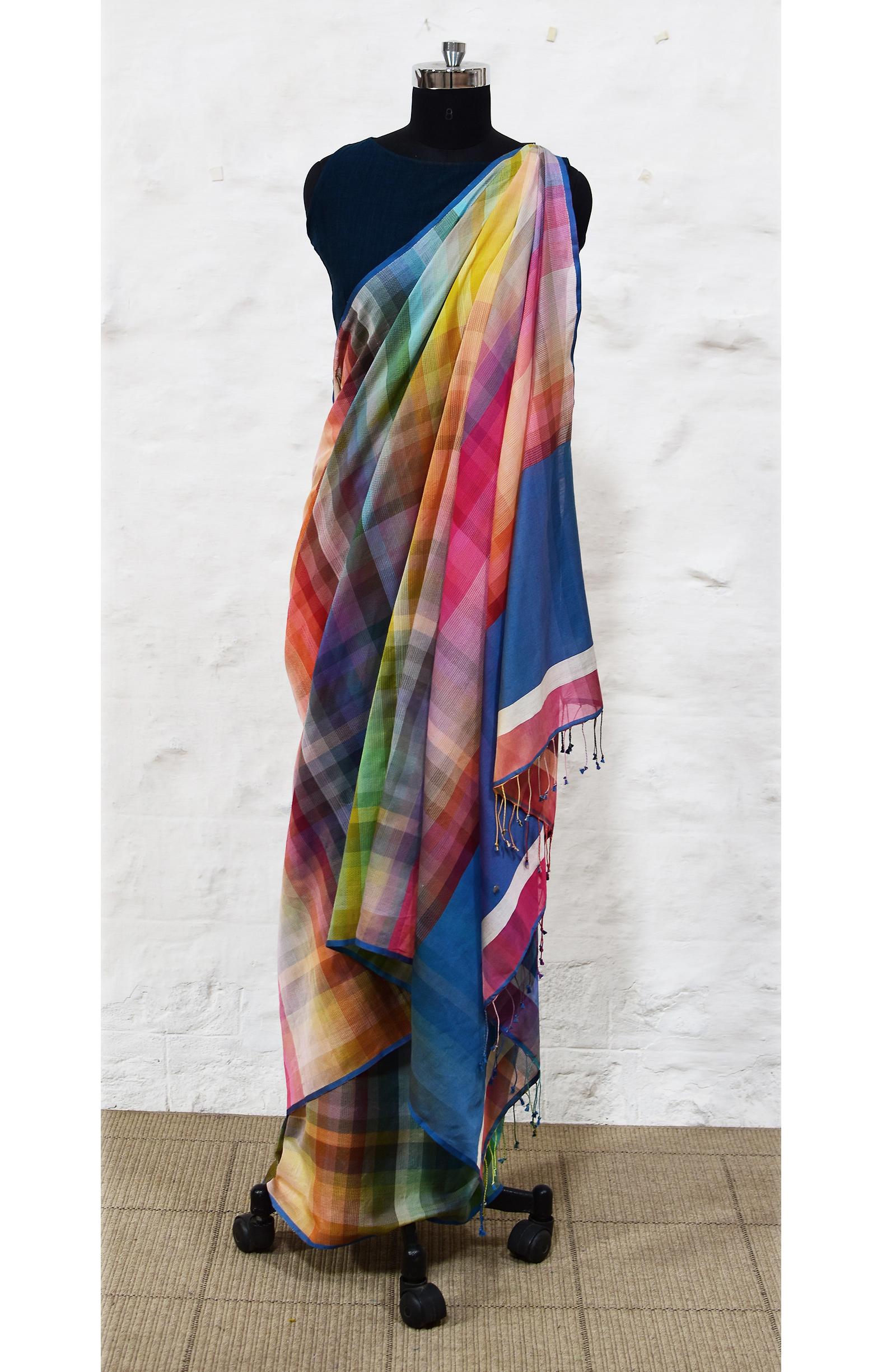 Collection : The 6400 colour Colourburst  'Rainbow Saree' -  CB/SA/1A