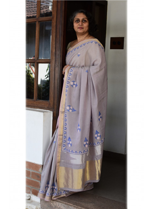 Lavender Purple, Handloom Organic Cotton Saree
