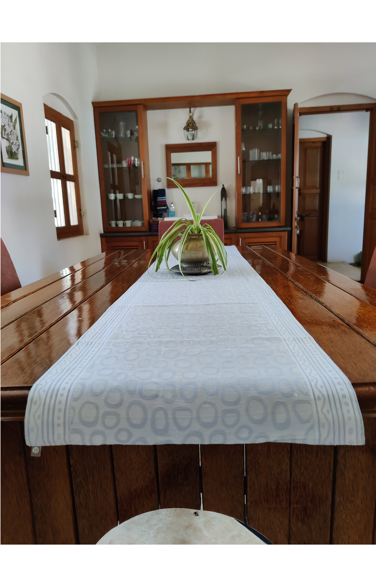 "Table Runner Light Blue (Size:15"" x 54"")"
